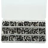 Ltvystore 900PCS 18 Value High Switching Speed Silicon PNP NPN Power Transistor Assortment Kit A1015-2N5551 with Clear Plastic Box