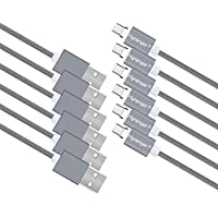 hyranger 6Packs[5th gen]Super Magnetic Type-C Type C Charging Cable 3Ft/1m Nylon braided Reversible USB C Data Sync Cord USB-C Charger For Huawei Nexus LG Xiaomi Meizu Nokia Lumia(gray)