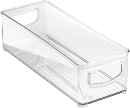 'InterDesign Refrigerator, Freezer and Pantry Storage Container – Food Organizer Bin for Kitchen, Clear' from the web at 'https://images-na.ssl-images-amazon.com/images/I/51hrsRaUAXL._AC_SY375_.jpg'