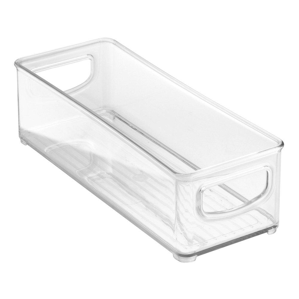 InterDesign 64030 Refrigerator, Freezer and Pantry Storage Container – Food Organizer Bin, Clear-Set of 1