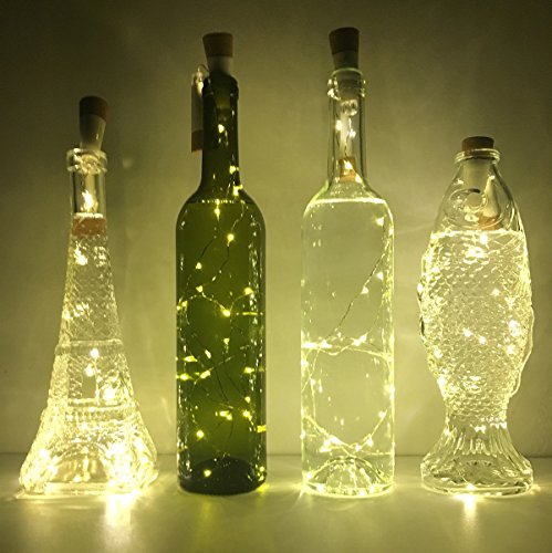 Christmas Lights In Wine Bottle