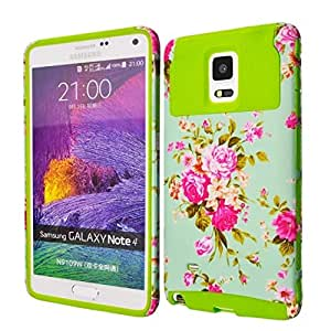 Candywe#1 Flowers Print Hybrid Hard Protective Case Cover For Samsung Galaxy Note Edge SM-N915S 2015 Model 001