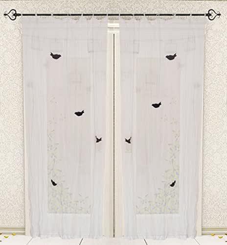 Amazon.com: Designer Tie Top Plain Bird White Printed