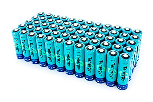 60pcs of Tenergy AA 2600 mAh high capacity NiMH Rechargeable batteries
