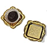 3 X 3 Gold Mini Plastic Square Plate (12/Pack) Width 3'