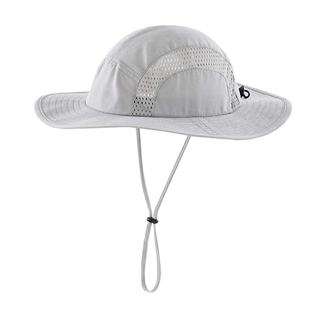 1968228d Home Prefer Men's Sun Hat UPF 50+ Wide Brim Bucket Hat Windproof Fishing  Hats Gray