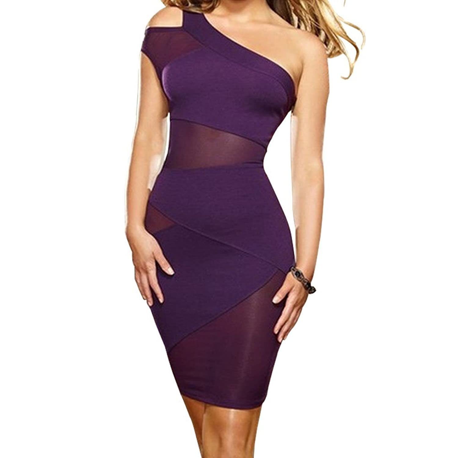 BLH Womens Sexy Bandage Bodycon Lace Evening Party Cocktail Short Mini Dress
