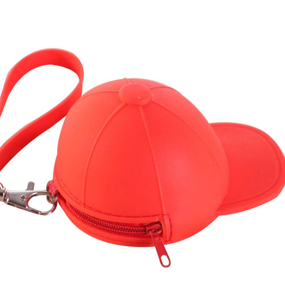 Cute Candy Color Baseball Cap Bag Zipper Storage Wallet Purse Pouch Card Holder Clutch Key Cash Coin Bag Gift Connoworld
