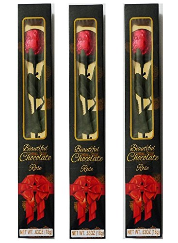 Valentine's Day Gift Long-Stemmed Chocolate Roses Set