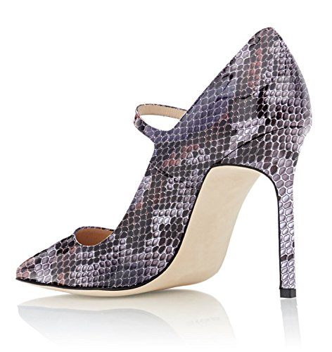 Party Women's Jane 10cm Spiss Strap Weeding purple Luking Shoes Stiletto Domstol Mary Dress Soireelady Court Pointed Sko Pumps Soireelady Tå Stiletto For Jane Kvinners Pumps Toe 2python lilla 2python For Strap 10cm Mary Kjole gqwXdEagnx