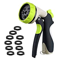 Garden Hose Nozzle, Spray Nozzle, Heavy Duty Metal Water Spray Nozzle, 8 Adjustable Watering Patterns Hose Nozzle, Suitable for Garden Watering, Pets Shower, Car Washing, Cleaning