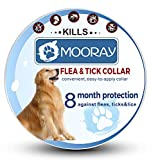 Flea and Tick Collar Prevention for Dogs & Cats Control for 8 Months with Natural Ingredients-Adjustable Waterproof Design