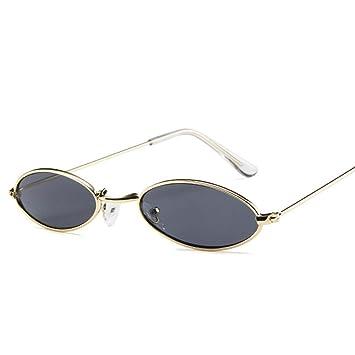 QZHE Gafas de sol Pequeñas Gafas De Sol Ovaladas Hombres ...