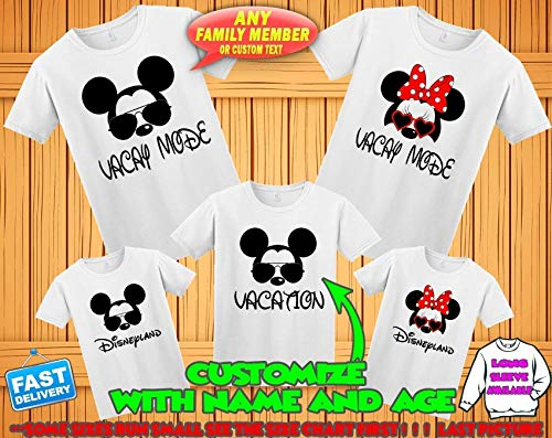 Buy disney personalized shirts for family