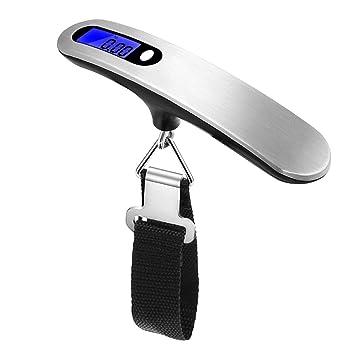 CatcherMy - Báscula digital portátil para equipaje, 50 kg, alta precisión, portátil, electrónica, para colgar pesas, LCD, 50 kg: Amazon.es: Jardín