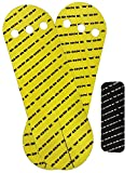 Wod and Done Grips and Hook Grip Bundle - Yellow 20 Grips / 24 Black Hook - Self Adhesive - Skin Tight - Chalk and Sweat Friendly