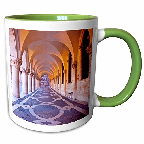 3dRose Danita Delimont - Venice - Arch at San Marcos Square, Venice, Italy - EU16 TEG0322 - Terry Eggers - 15oz Two-Tone Green Mug - San Marco Square Venice Italy