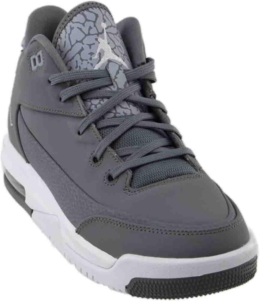 Nike Jordan Kids Jordan Flight Origin 3 Bg Cool Grey/Mtllc Silver/White Basketball Shoe 6 Kids US
