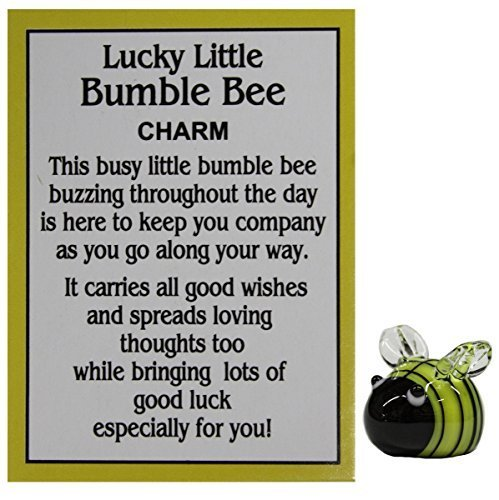 Ganz Lucky Little Bumble Bee Charm with Story Card yellow - Story Charm