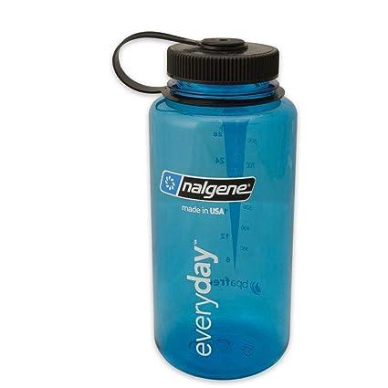703a59c2e2 Amazon.com : Nalgene 32 oz Wide Mouth Reusable Bottle, Tritan, in Blue :  Sports Water Bottles : Sports & Outdoors