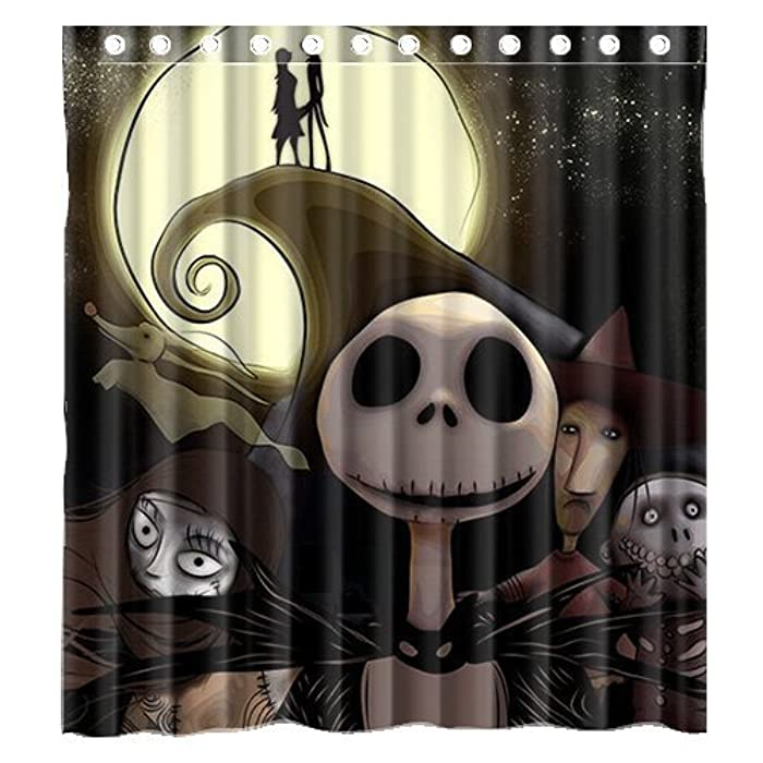 amazoncom custom movie the nightmare before christmas waterproof bathroom shower curtain polyester fabric shower curtain size 66 x 72 clothing