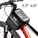 Bicycle Touch Screen Tube Bag Bike Cycling Touch Screen Mobile Phone Bag Pannier ( L )