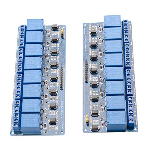 Price comparison product image 2-Pack DC 5V 8 Channel Relay Module with Optocoupler Expansion Board for Arduino UNO R3 MEGA 2560 1280 PIC AVR DSP ARM STM32 Raspberry Pi