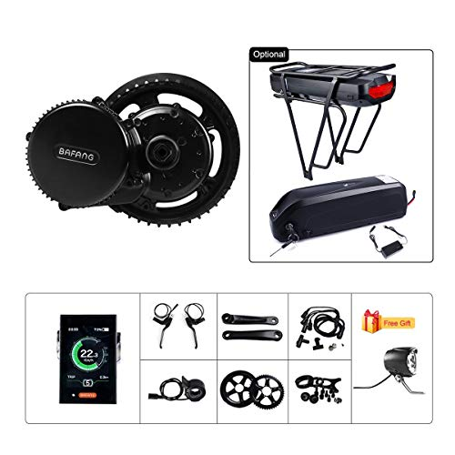 (BAFANG BBS02B 48V 750W Ebike Motor with LCD Display 8fun Mid Drive Electric Bike Conversion Kit with Battery (Optional) )