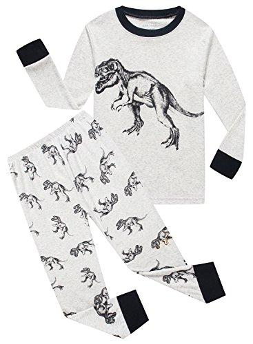 MMII pajamas Dinosaur Little Boys' Cotton Sleeper Pajamas Set 2 Piece Sleepwears Pjs Size 2T