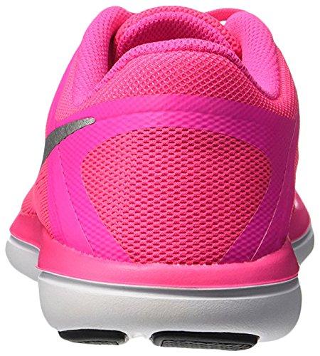 Nike Women's Flex 2016 Rn (Gs) Running Shoes Pink (Pink Blast / Metallic Silver-black) NUdTvGM