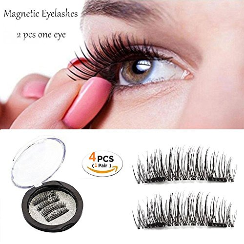 아마존 - Magnetic Eyelashes Dual Magnetic False Eyelashes 3D Reusable Fake Magnet Eyelashes, No Glue 0.2MM Ultra Thin Fake lashes for Soft Natural Look Handmade Seconds to Apply (1 pair 4 pieces) 비드바이 - 해외 전문 경매대행 선두주자 아마존 - Magnetic Eyelashes Dual Magnetic False Eyelashes 3D Reusable Fake Magnet Eyelashes, No Glue 0.2MM Ultra Thin Fake lashes for Soft Natural Look Handmade Seconds to Apply (1 pair 4 pieces) - 웹