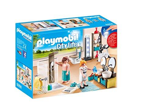 PLAYMOBIL Bathroom Set Building Set (Furniture Living Sets Room Uk)