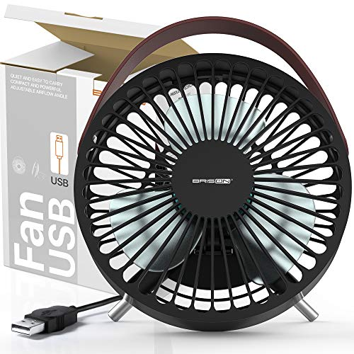 Computer Desk USB Fan Personal Electric Blow Cold Air Mini Fan - Powerful Airflow Small Quiet PC Desktop Ventilator - Table Fan - 2.5W Portable Air Circulator W/USB Port to Laptop Computer Power Bank