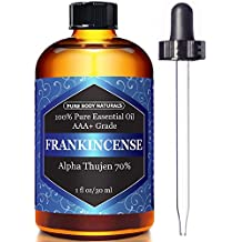 100% Pure Frankincense Essential Oil for Diffuser and Skin, Stress Relief, Meditation and Yoga, by Pure Body Naturals, 1 Ounce