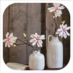Memoirs- Artificial Magnolia Flowers Simulation Orchid Silk Fake Flower Wedding Decoration Home Flower Arrangement Accessories 3