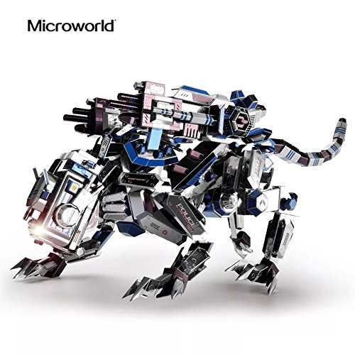 Microworld 3D Metal Nano Puzzle Mechanical Police Dog Assemble Model Kit D002 DIY 3D Laser Cut Jigsaw Toy (3d Dog Model)