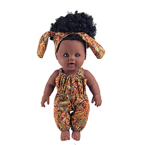 12 inches toy baby dolls for kind and girl (Black hair)