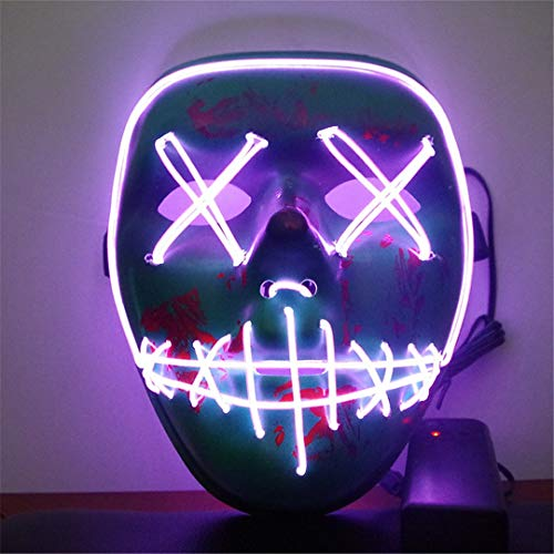EL Light Mask Up Funny Mask from The Purge Election Year Great for Festival Cosplay Halloween Costume HL0761Z