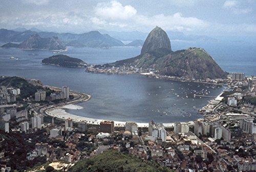 Brazil Rio De Janeiro Nthe Coast Of Rio De Janeiro In Brazil With Sugar-Loaf Mountain In Guanabara Bay Photograph Late 20Th Century Poster Print by (18 x 24)