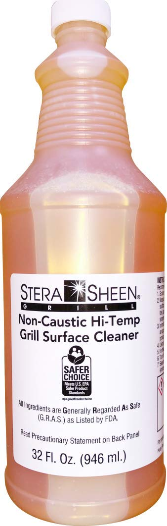 Stera-Sheen | 6 x 32 fl. Liquid Grill Cleaner | Food-Safe Non-Caustic Hi-Temp Grill Surface Cleaner | SSGRILL61 Purdy Products | Clean Hot Surfaces, Eliminate Tough Encrusted Grease | (6 x 946ml) by Stera Sheen Products (Image #2)