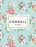 Cornell Notebook: Floral Print | 120 White Pages
