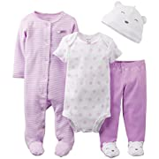 Carter's Baby Girls' 4 Piece Layette Set (Baby) - Lavender - Lavendar - 9 Months