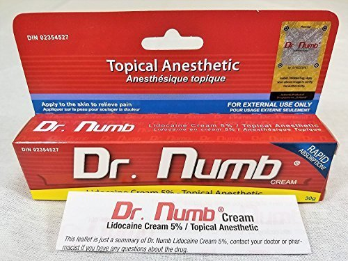Dr. Numb Topical Numbing Cream | 5% Lidocaine Anesthetic Formulation for Tattoo, Microblading & Minor Surgical Procedures | Desensitizing & Healing Cream with Vitamin E for Itching & Burns | 30 Grams TOPICAL_AC