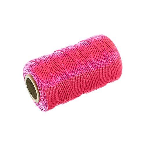 Twisted Nylon Mason Line (275 Feet, Fluorescent Pink) - Twine String