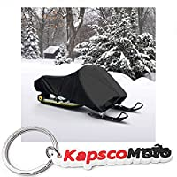 "WATERPROOF TRAILERABLE SNOWMOBILE COVER COVERS SKI DOO YAMAHA ARCTIC CAT POLARIS FITS LENGTH 105""-125"" + KapscoMoto Keychain"