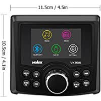 Marine Stereo, Audio Video Player FM/AM with Bluetooth Streaming, for Yacht, Boat, UTV, ATV, Spa, Golf Cart