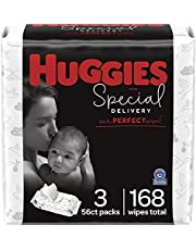 Baby Wipes, Huggies Special Delivery, UNSCENTED Hypoallergenic, 3 Flip-Top Packs
