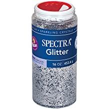 Pacon Glitter, Shaker-Top Can, Silver 16oz