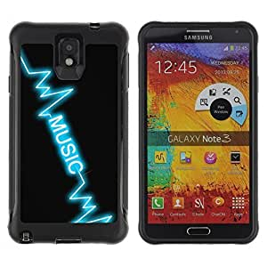 Hybrid Anti-Shock Defend Case for Samsung Galaxy Note 3 / Music