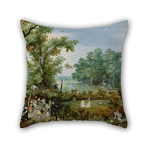 - Oil Painting Adriaen Van De Venne (Dutch - A Merry Company In An Arbor Cushion Covers 20 X 20 Inch / 50 By 50 Cm For Family,kids Boys,teens Boys,chair,bench,lover With Twice Sides